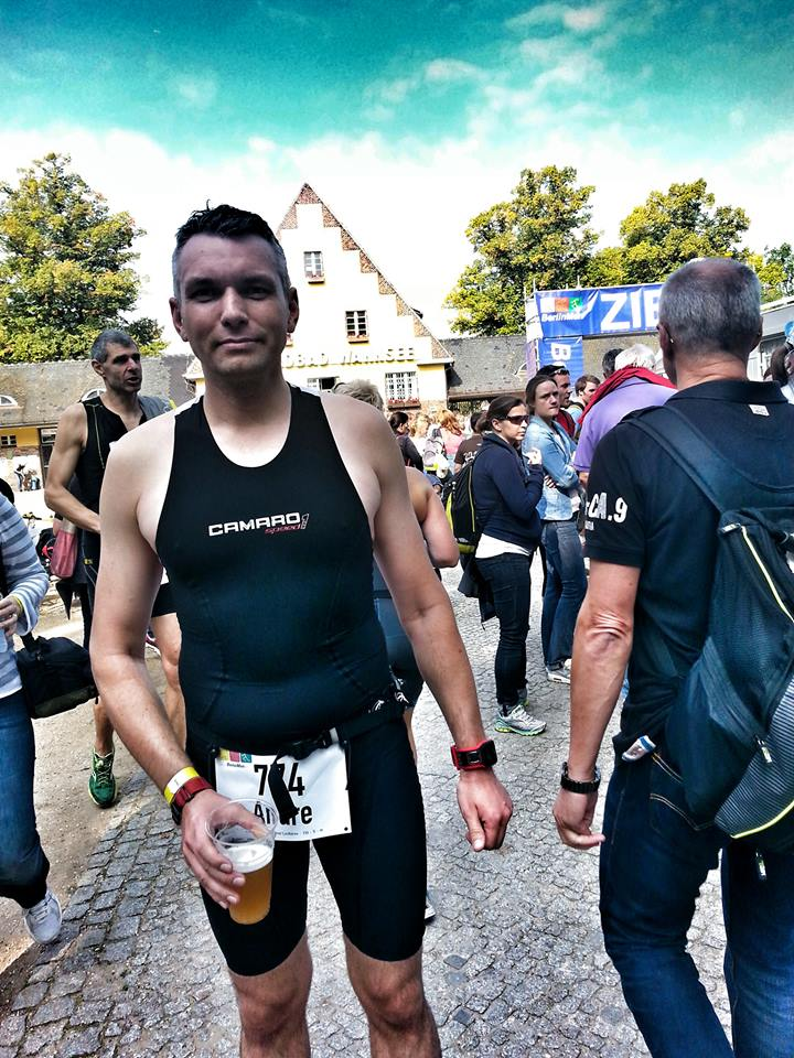 Finisher Bild beim Berlinman Triathlon